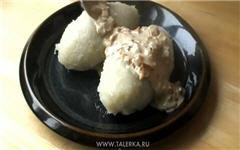 Картофельные клёцки с мясной начинкой
