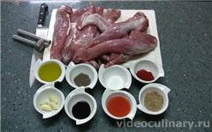 Шашлык из филе свинины