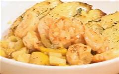 Креветки «Бокано», жаренные с лимоном и чесноком
