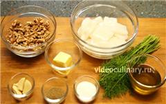 Кальмары в чесночно-ореховом соусе