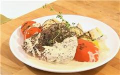 Пепер-стейк из говядины с овощами гриль