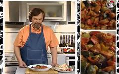 Тушеные овощи с колбасками чоризо
